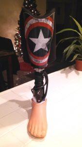 Captain America Prosthetic Leg