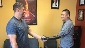 Myoelectric Arm Handshake